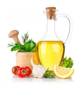 Cooking oil and vegetables