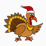 turkey with santa hat