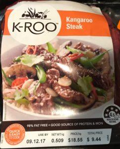Kangaroo Meat Label